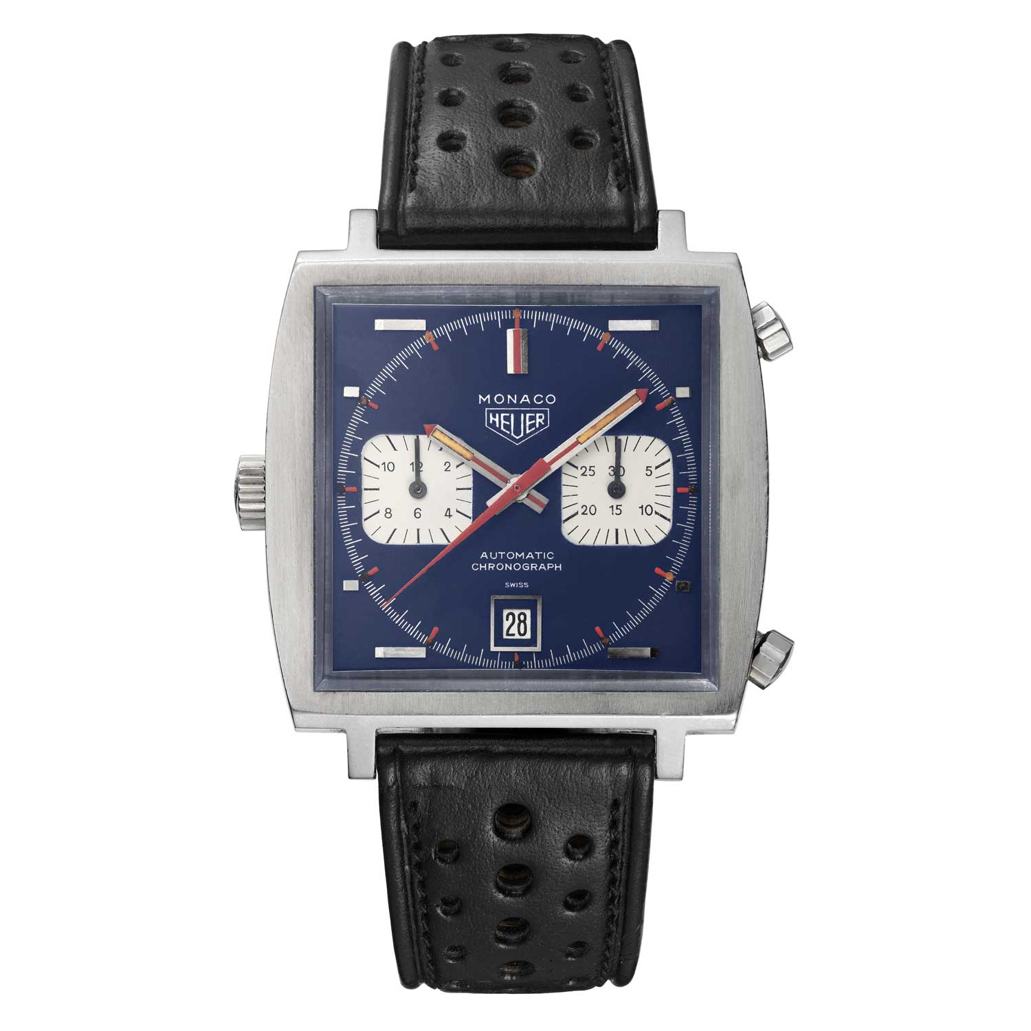 Heuer Monaco worn by Steve McQueen in 1971 movie, Le Mans
