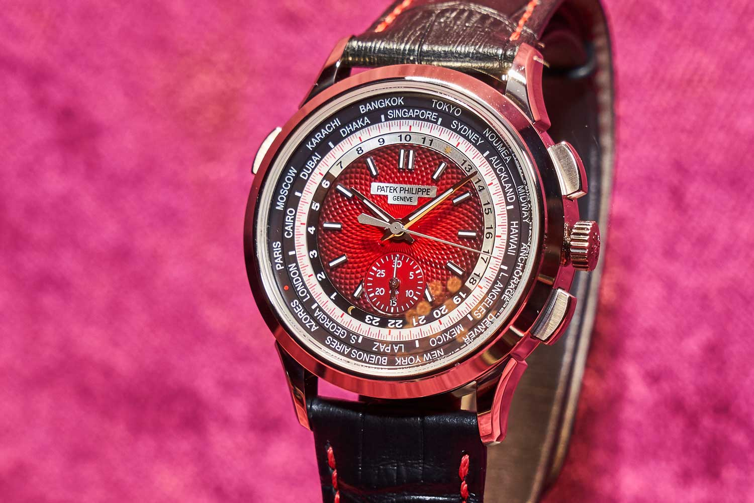 Ref. 5930 – World Time Chronograph Singapore 2019 Special Edition. Limited to 300 pieces.