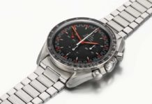Lot 7: Omega Speedmaster Racing Dial, Ref. 145.012-67 stainless steel chronograph wristwatch with exotic dial and bracelet, made in 1968