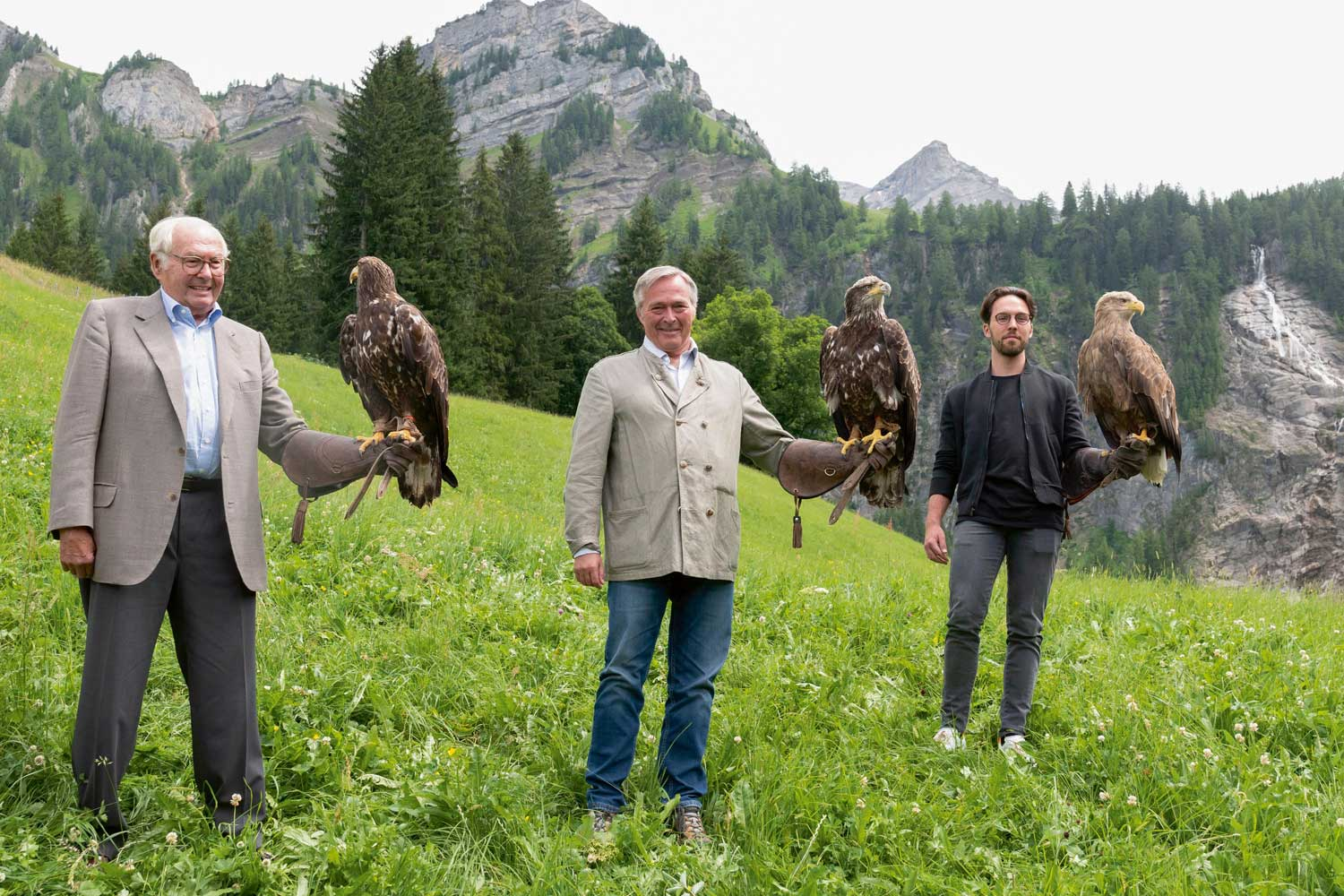 The Scheufele family with Alpine Eagles, for which the new watch is named