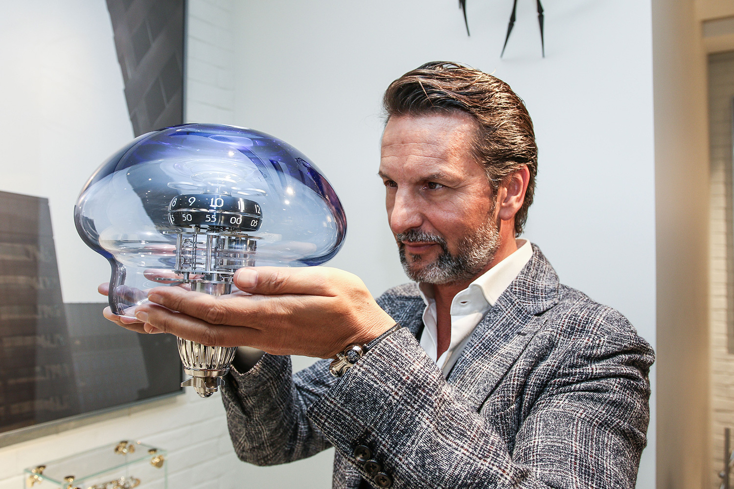 Maximilian Büsser with the MB&F Medusa