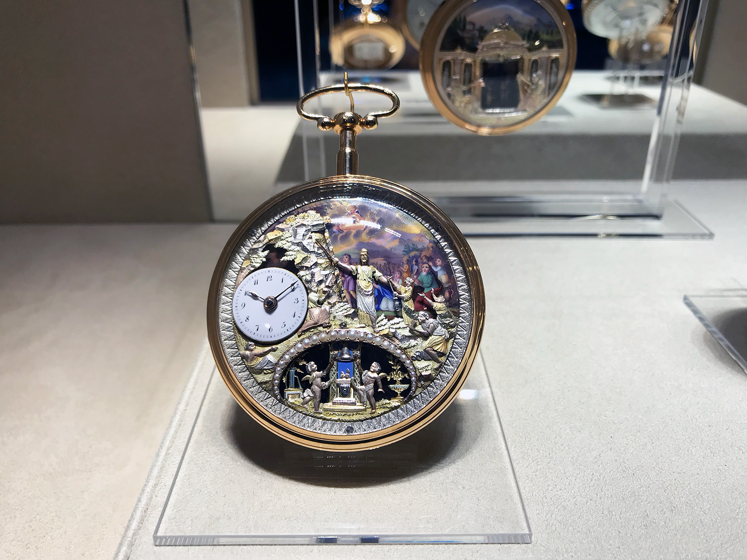The S-195 Moses watch with automata and repeater