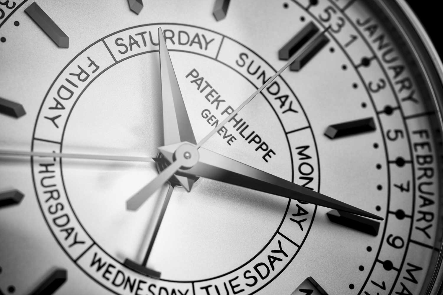 The dial features a handwritten font which is actually one of Patek Philippe's designer's own handwriting