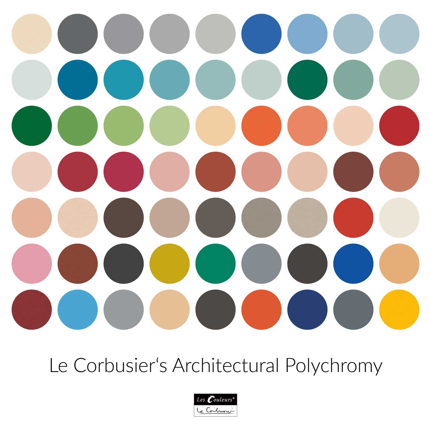 The complete color palette of Architectural Polychromy
