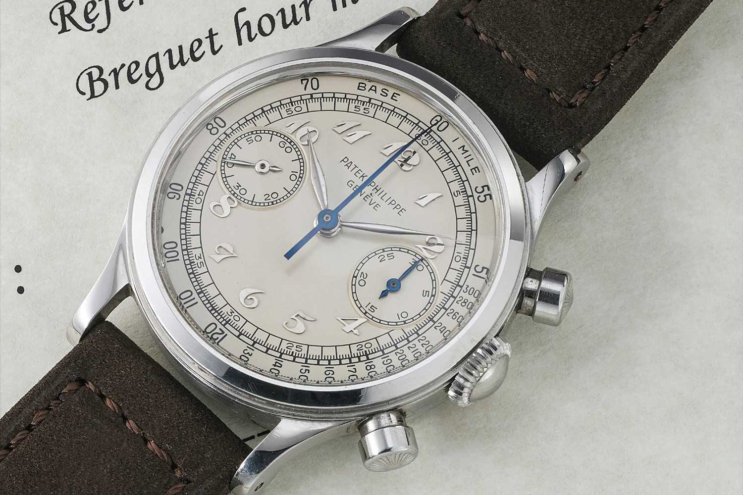 Patek Philippe Ref. 1463 chronograph in steel (Image: Phillips)