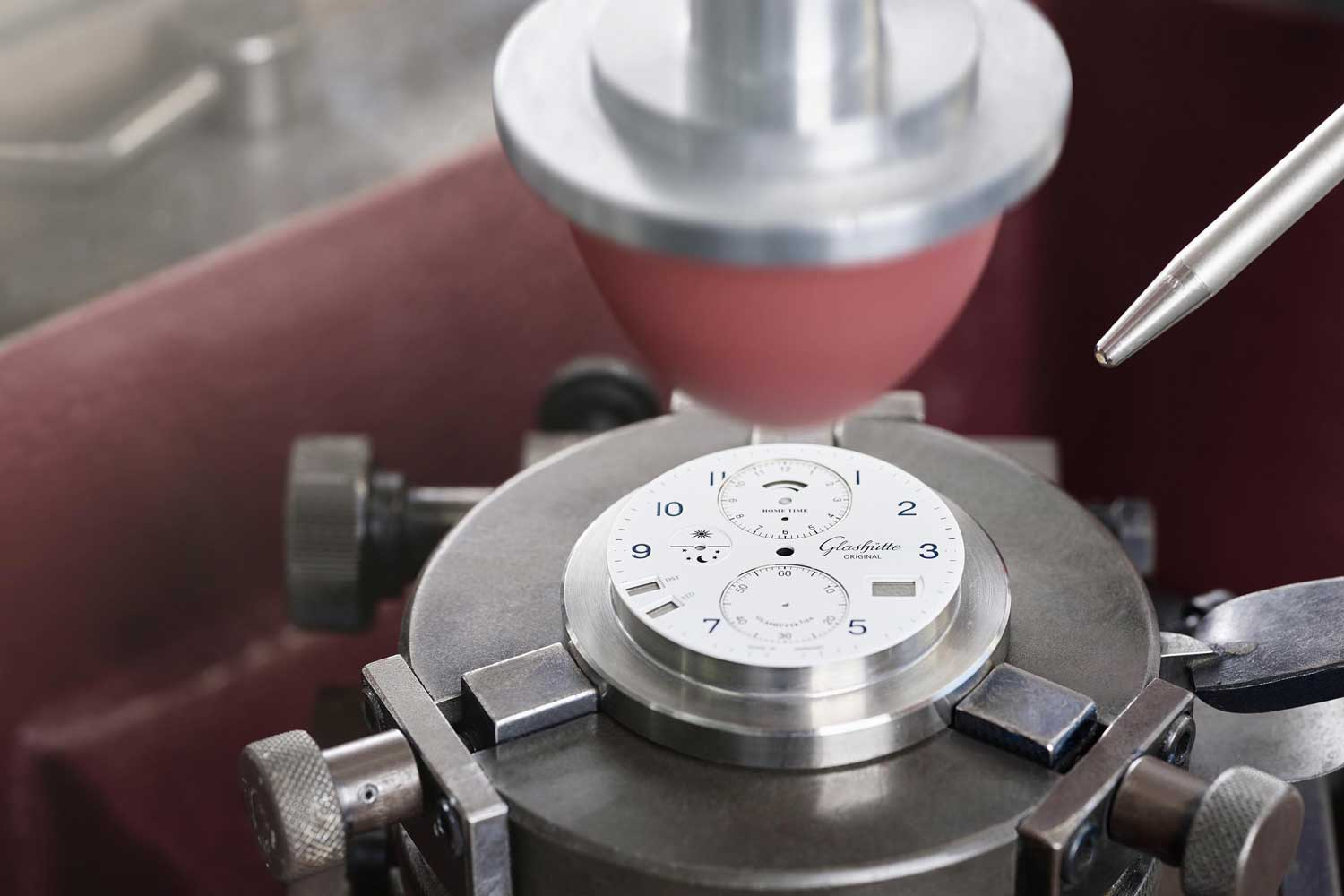Glashütte Original makes its own dials in their facility located in Pforzheim, Germany