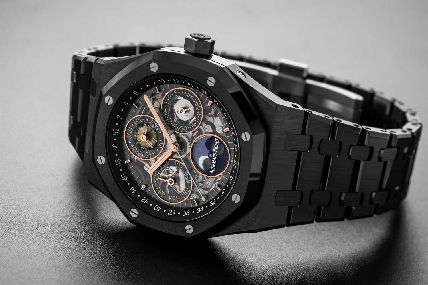 Audemars Piguet Royal Oak Perpetual Calendar Openworked Black Ceramic (Image © Revolution)