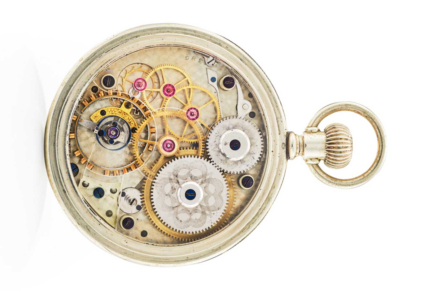 "Lot 43: American Waltham Watch Co. ""Crystal Plate"" Movement; White Metal"