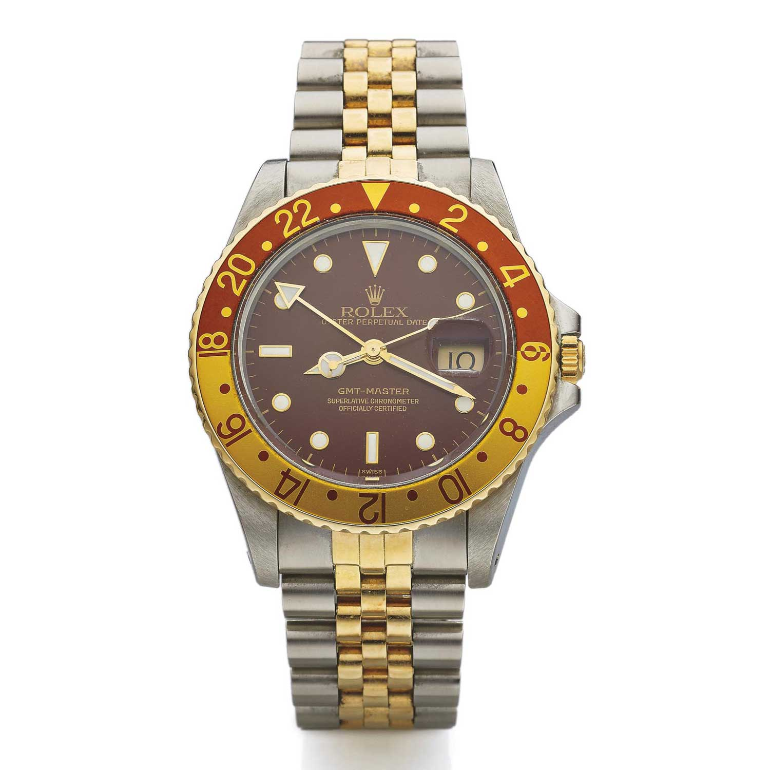"The Rolex ""Root Beer"" GMT Master. A similar example sold at Phillips' Geneva auction for CHF24,385"