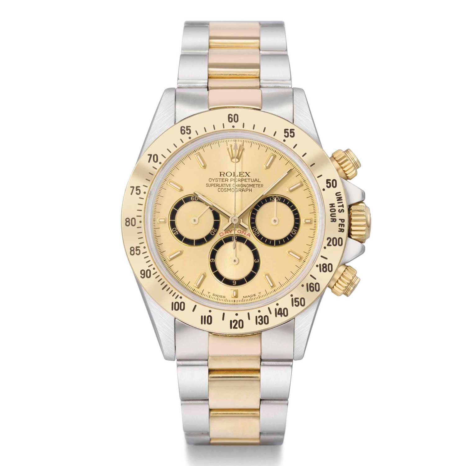 A rare vintage ref. 16523 two-tone Daytona sold by Christie's. Vintage two-tone Rolexes are seeing a growth in interest