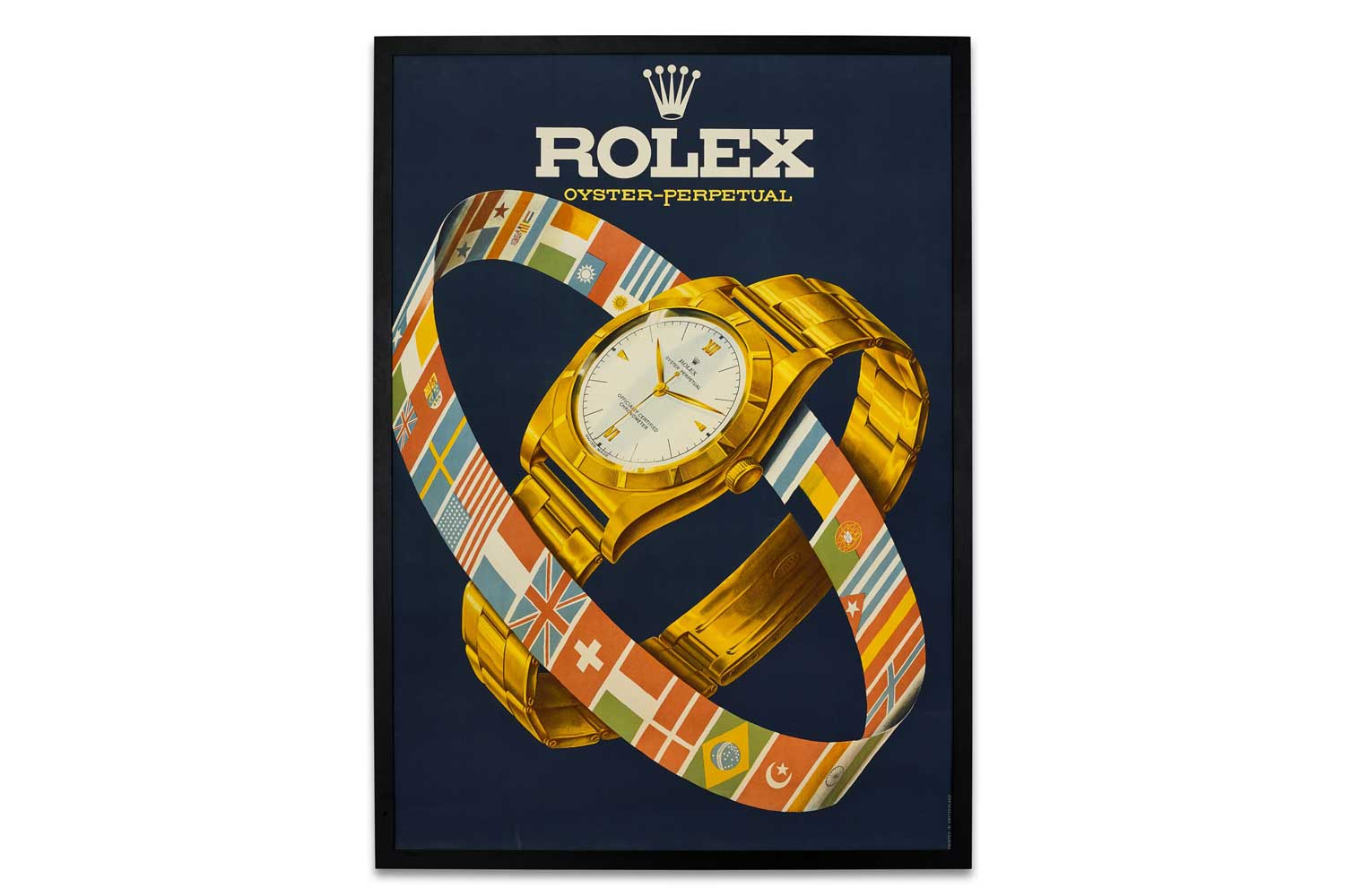 Lot 8087: Rolex - A large advertising poster, circa 1952