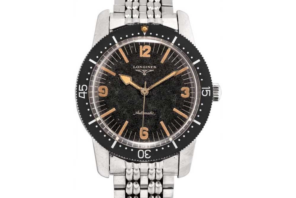 Longines ref. 6921-1 Nautilus Skin Diver of 1959 (Image: Phillips Watches)