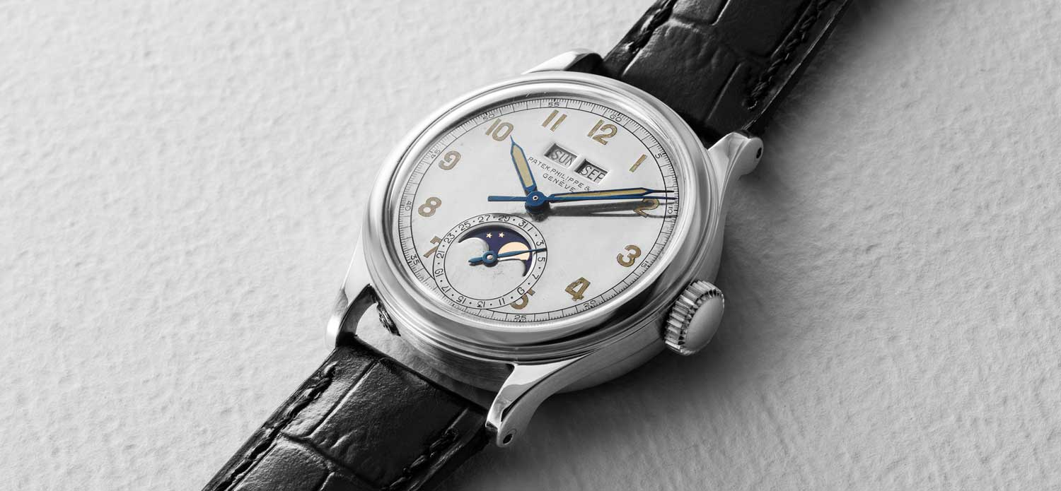 Patek Philippe Ref. 1591 in Stainless Steel (Image © Revolution)