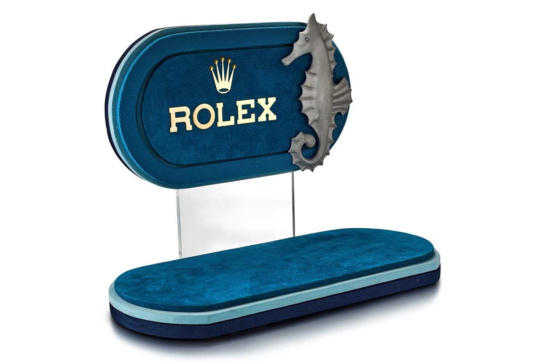 Lot 8130: Rolex - A velvet retailer's window display, circa 1970