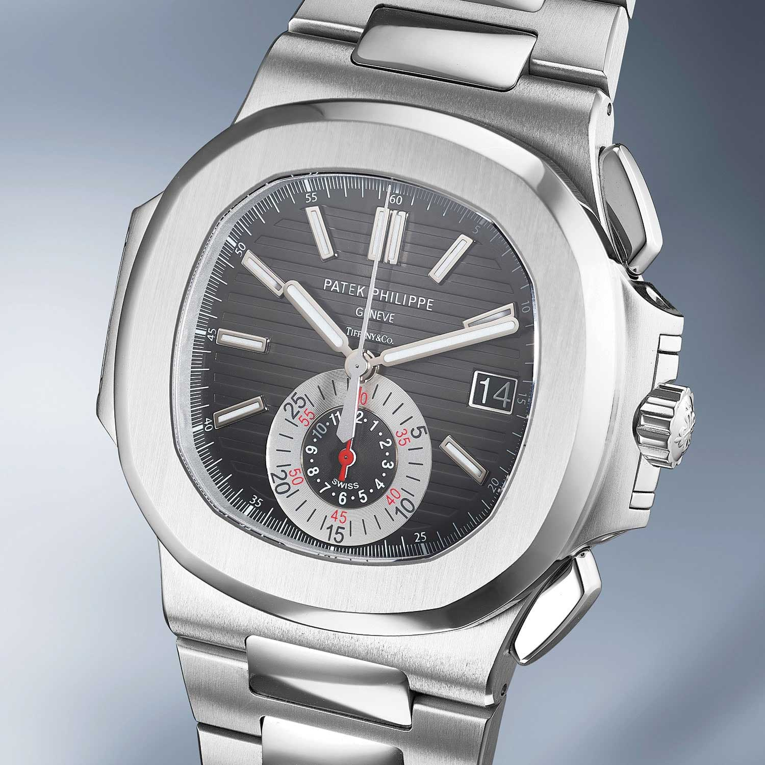 Lot 27: Patek Philippe Ref. 5980/1A. A rare and attractive stainless steel chronograph wristwatch with date and bracelet