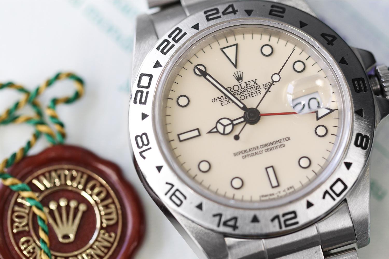 "Lot 884 – Rolex Explorer II with a ""cream"" dial"