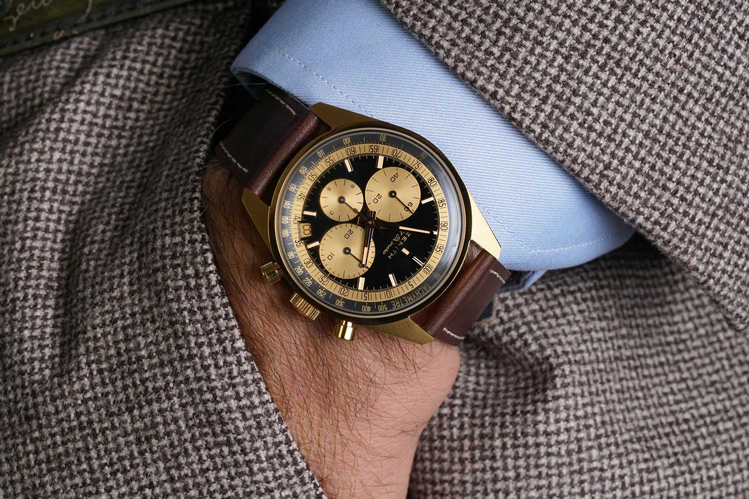 El Primero A386 Revival – Yellow Gold (Image: Phillips Watches)
