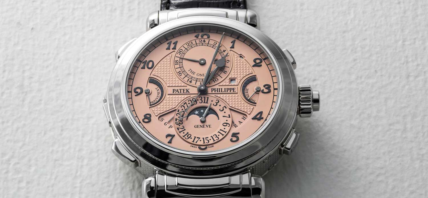 The Grandmaster Chime reference 6300A-010 in steel, made specially for Only Watch 2019 sold in Geneva for 31 million