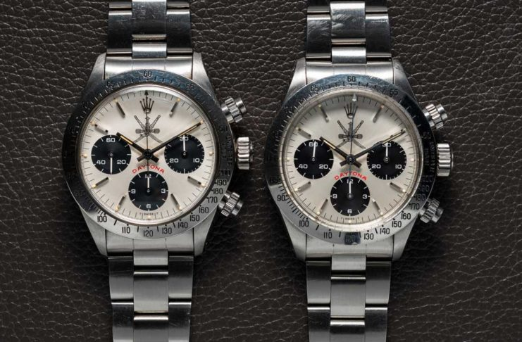 Rolex Daytona 6265s with khanjar dials, Captain David Wood's on right and Bruce McDonald's on the left (Image: @bexsonn)