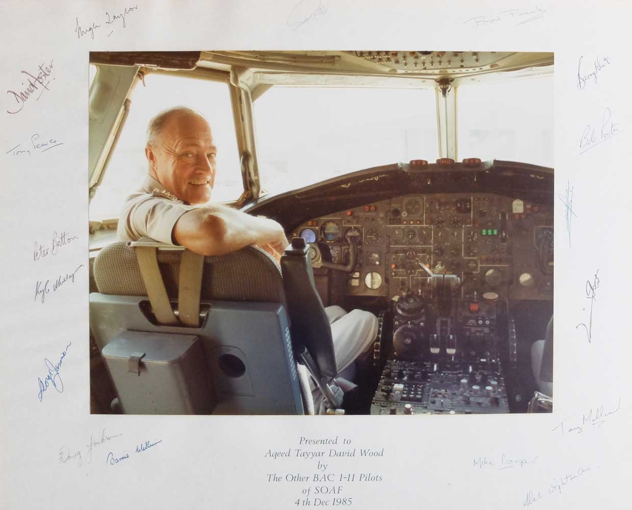 Captain David Wood in the cockpit of BAC 1-11