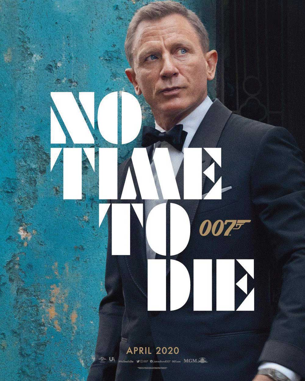 The new poster for No Time to Die