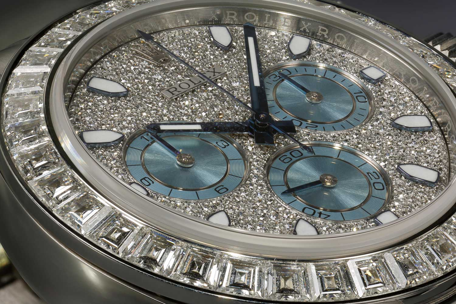 Ref. 116576 BRIL with baguette diamonds and a paved dial