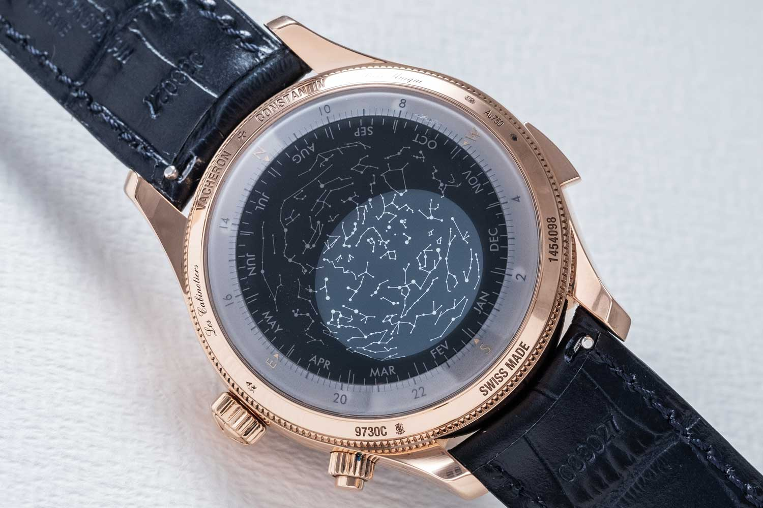 The sky chart on the back of the Les Cabinotiers Minute Repeater Tourbillon Sky Chart - ref. 9730C/000R-B493 (Image © Revolution)
