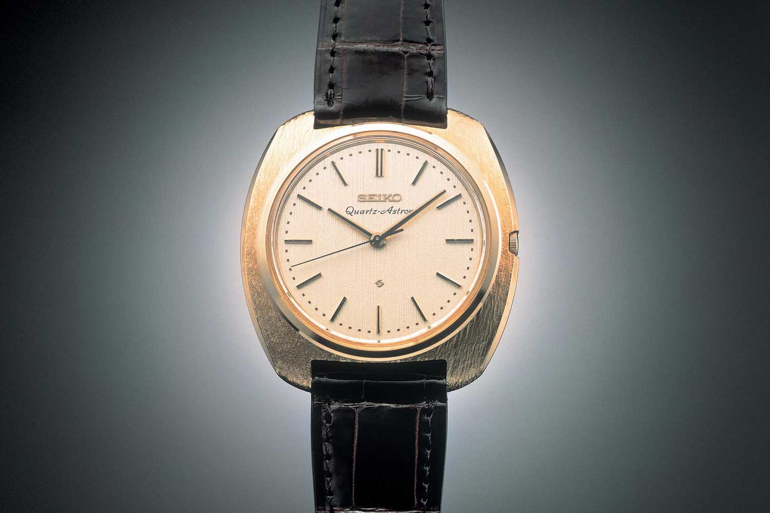 The game-changing Astron in 1969, the first wristwatch powered by a quartz movement