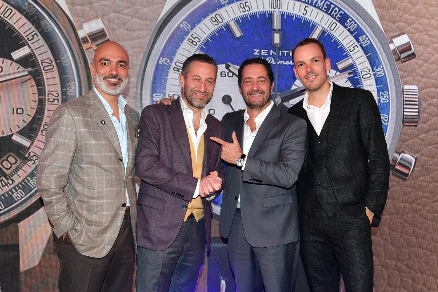 (From left) Alex Ghotbi, Aurel Bacs, Zenith CEO Julien Tornare and Romain Marietta, Zenith Product Chief