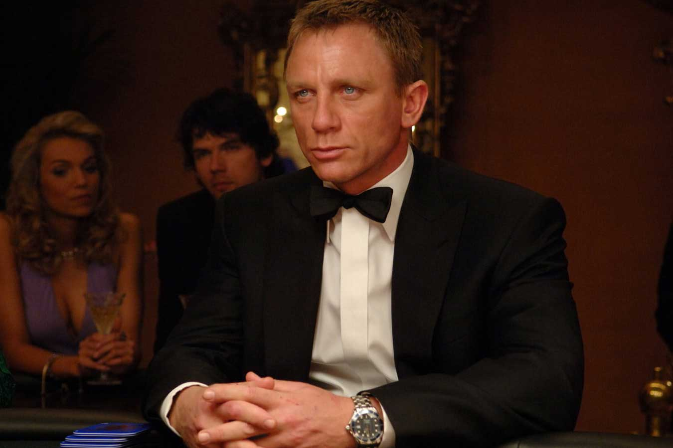 Daniel Craig as Bond in the 2006 film, Casino Royale (Image: omegawatches.com)