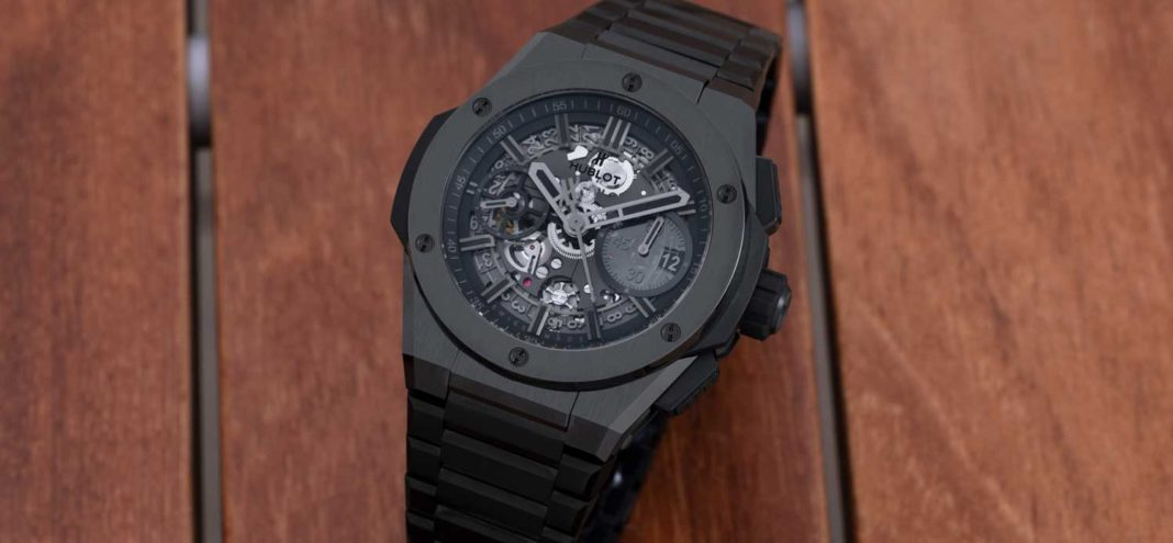 Hublot Big Bang Integral All Black in satin-finished and polished ceramic (Image © Revolution)