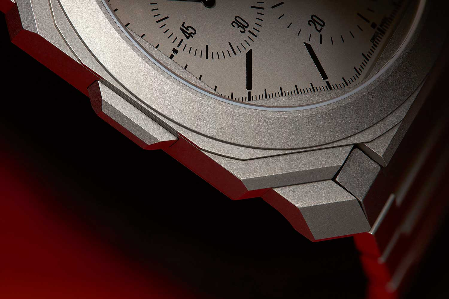 Sharp facets of the Octo Finissimo Chronograph GMT Automatic case (Image © Atom Moore)