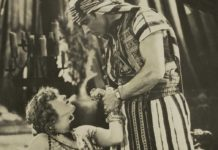 Vilma Banky and Rudolph Valentino in the 1926 film, Son of the Sheik; Valentino insisted on wearing his treasured Cartier Tank during the filming. In every scene.