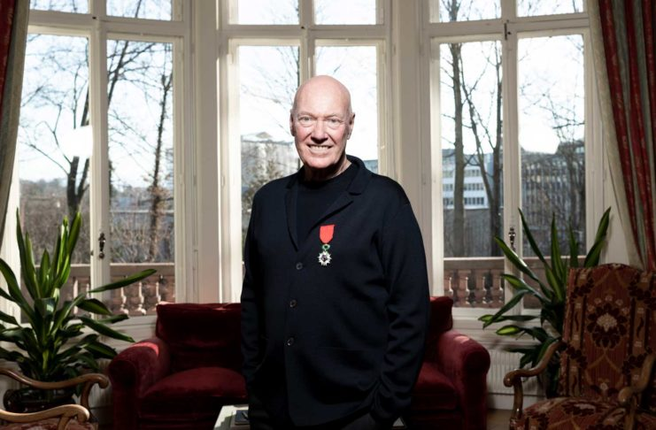 Industry titan, Jean-Claude Biver awarded the insignia of Chevalier de la Légion d'honneur, a decoration presented by the French Ambassador to Switzerland Frédéric Journès during an official ceremony at the French Embassy in Bern. Bern, Switzerland, January 15, 2020 © Fred Merz | Lundi13