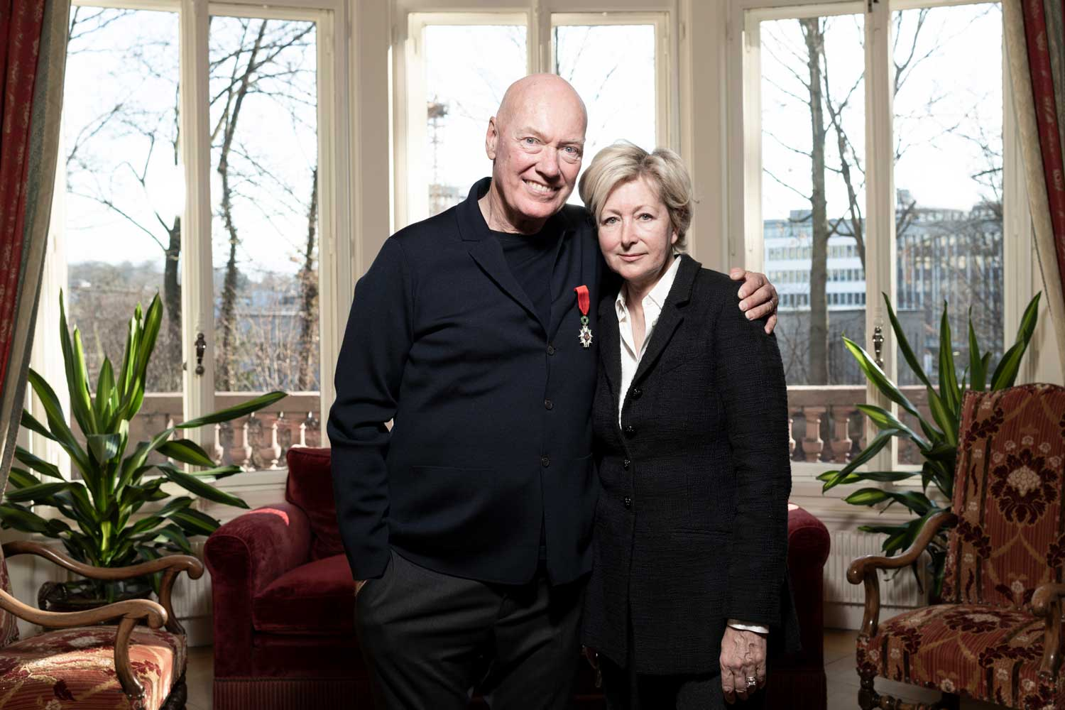 Jean-Claude Biver with wife, Sandra at the French Embassy in Bern. Bern, Switzerland, January 15, 2020 © Fred Merz | Lundi13