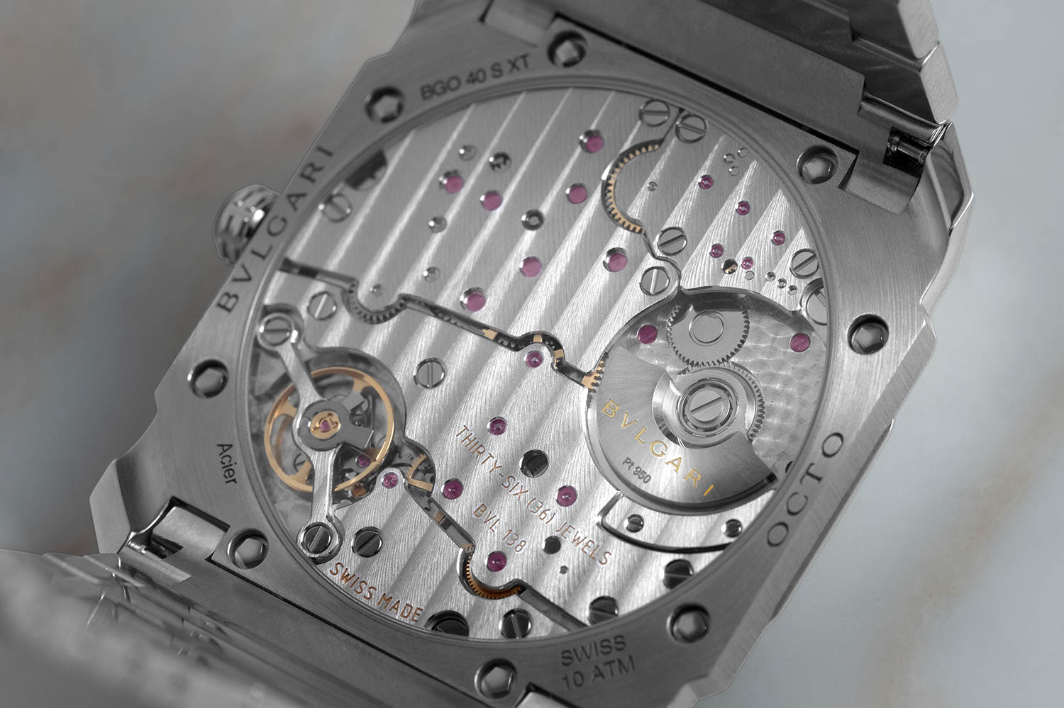 The BLV138 automatic that powers the Octo Finissimo Automatic Satin-Polished Steel (Image © Revolution)