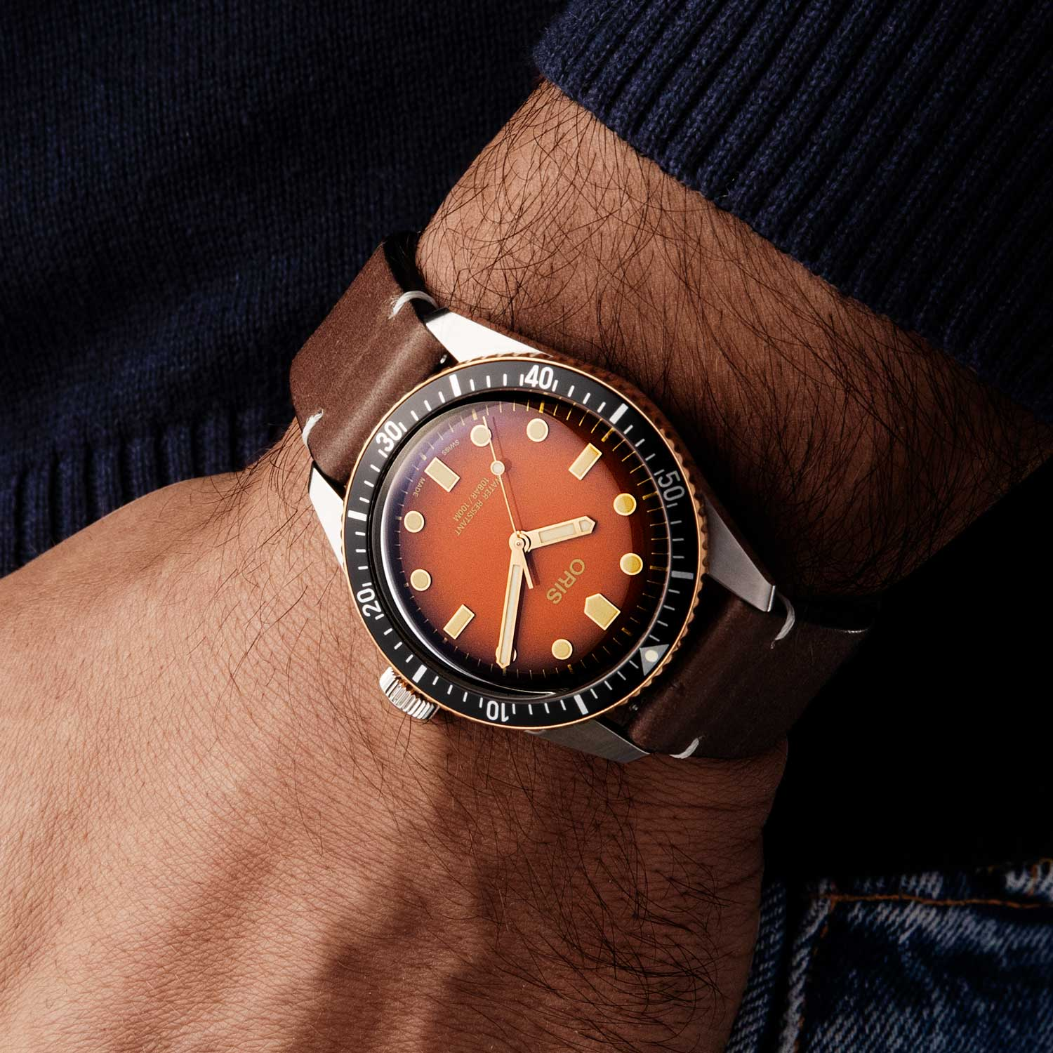 """Oris Divers Sixty-Five """"Honey"""" for The Rake and Revolution (Image © Revolution)"""