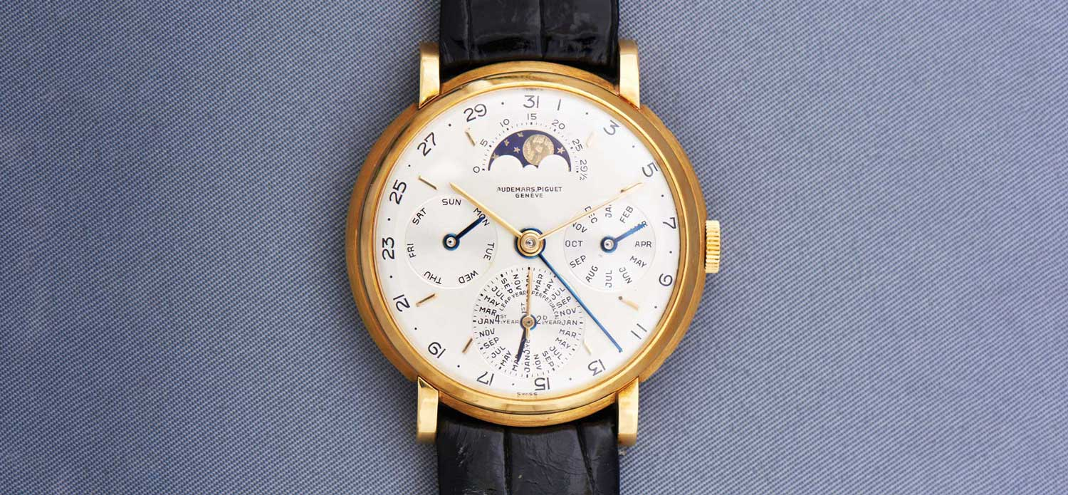 Audemars Piguet yellow-gold perpetual calendar ref. 5516 from 1955 (Image © Revolution)