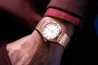 The 39mm 2020 Constellation Omega Co‑Axial Master Chronometer for Gents, in Sedna™ gold