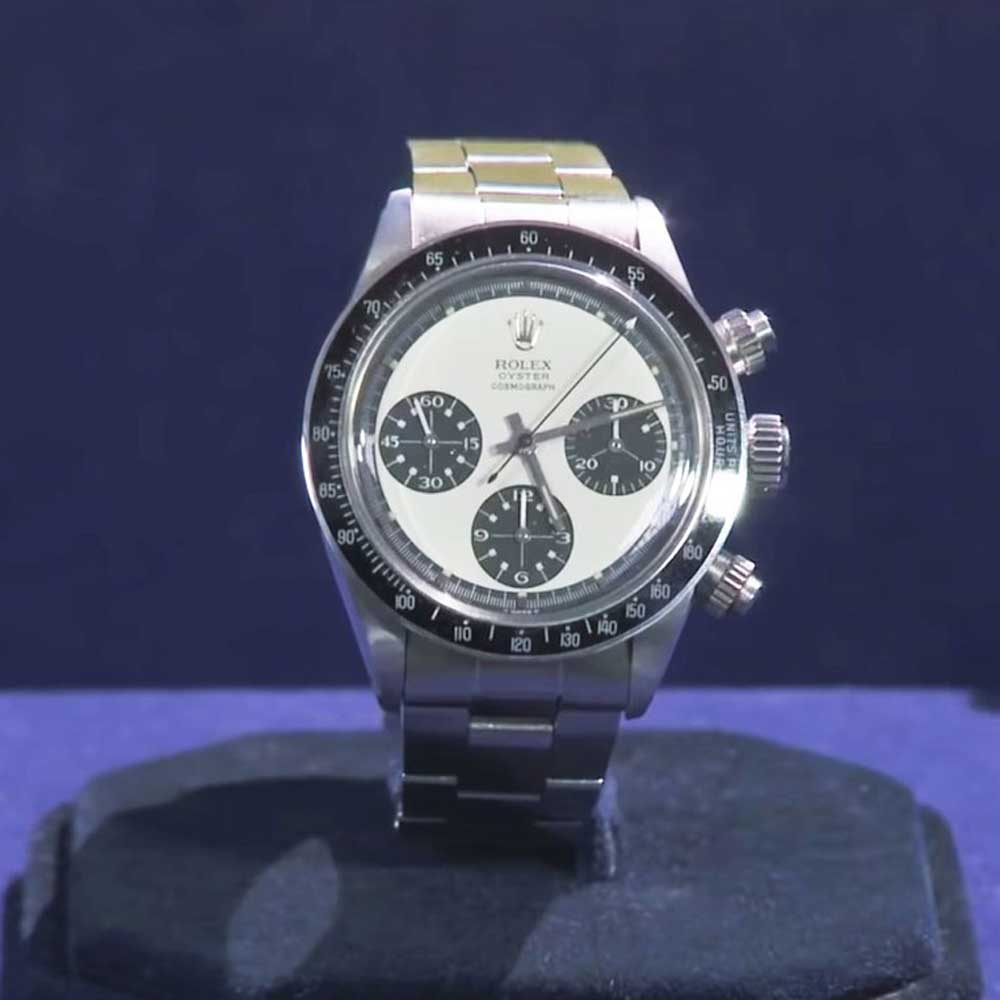 The unworn Rolex Oyster Cosmograph Daytona 6263 ca. 1971, featured on Antiques Roadshow (Image: pbs.org)