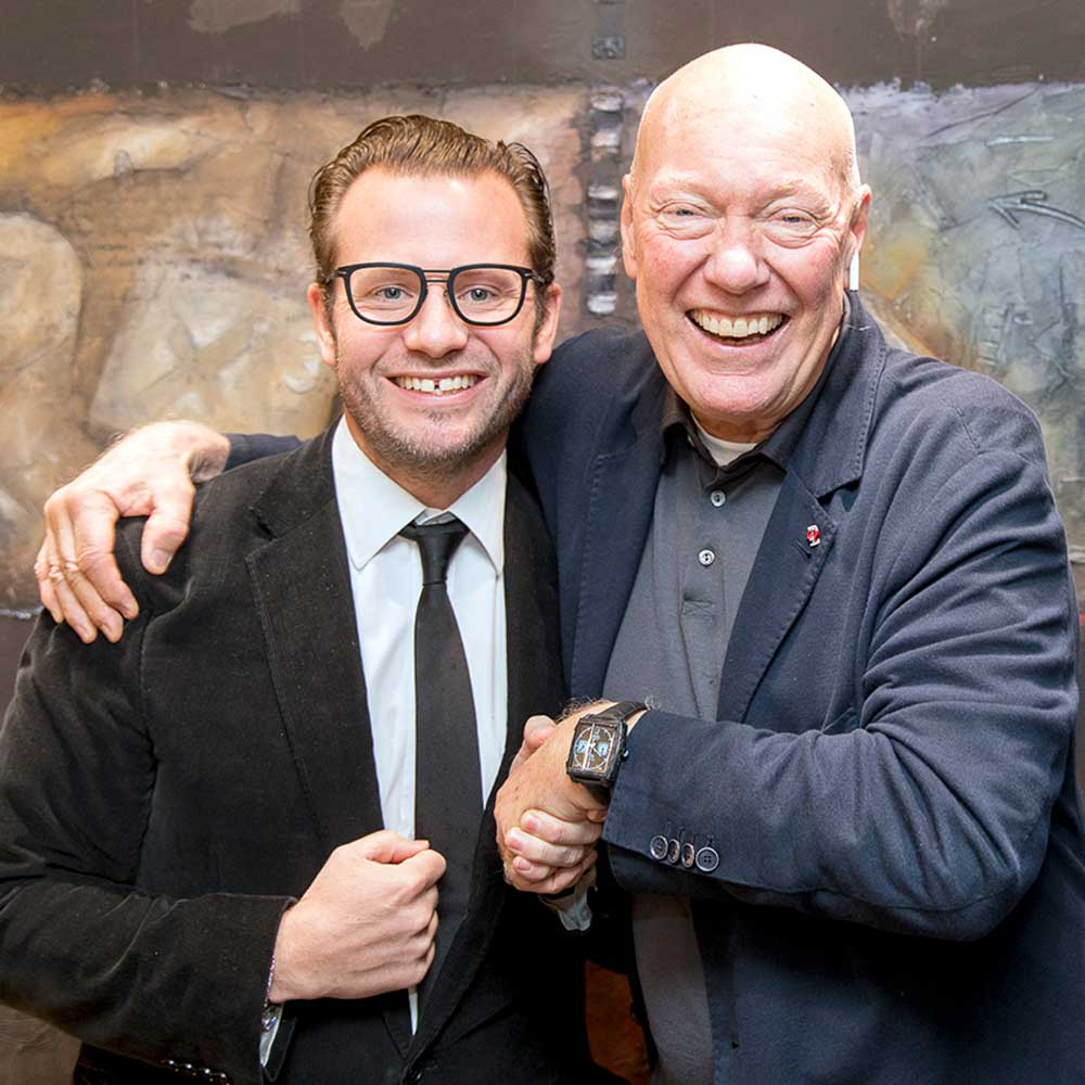 George Bamford with the one and only, Jean-Claude Biver at Baselworld 2018