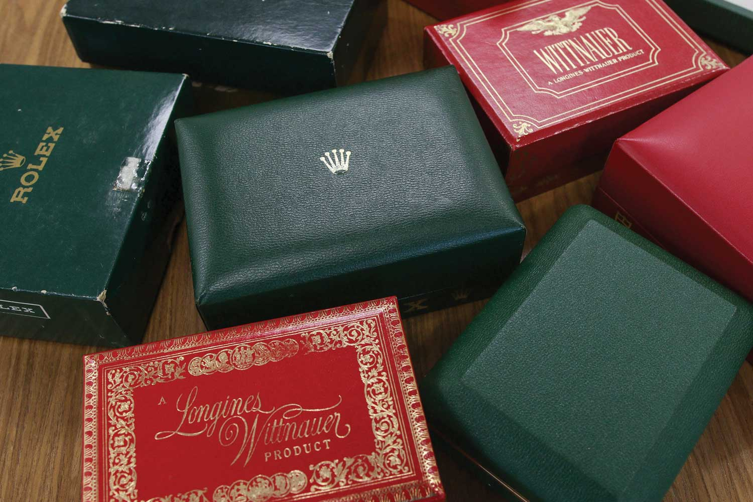 Watch boxes in Lester Ng's collection (Image © Revolution)