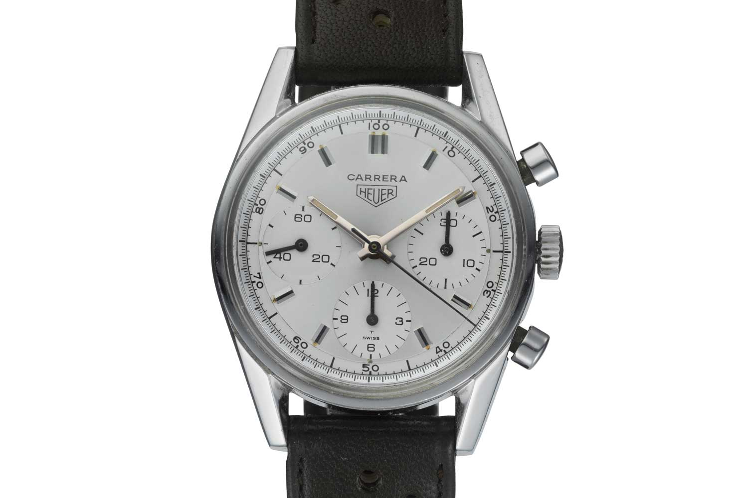 The original Heuer ref. 2447 which the 2020 TAG Heuer Carrera 160 Years Silver Limited Edition is inspired by