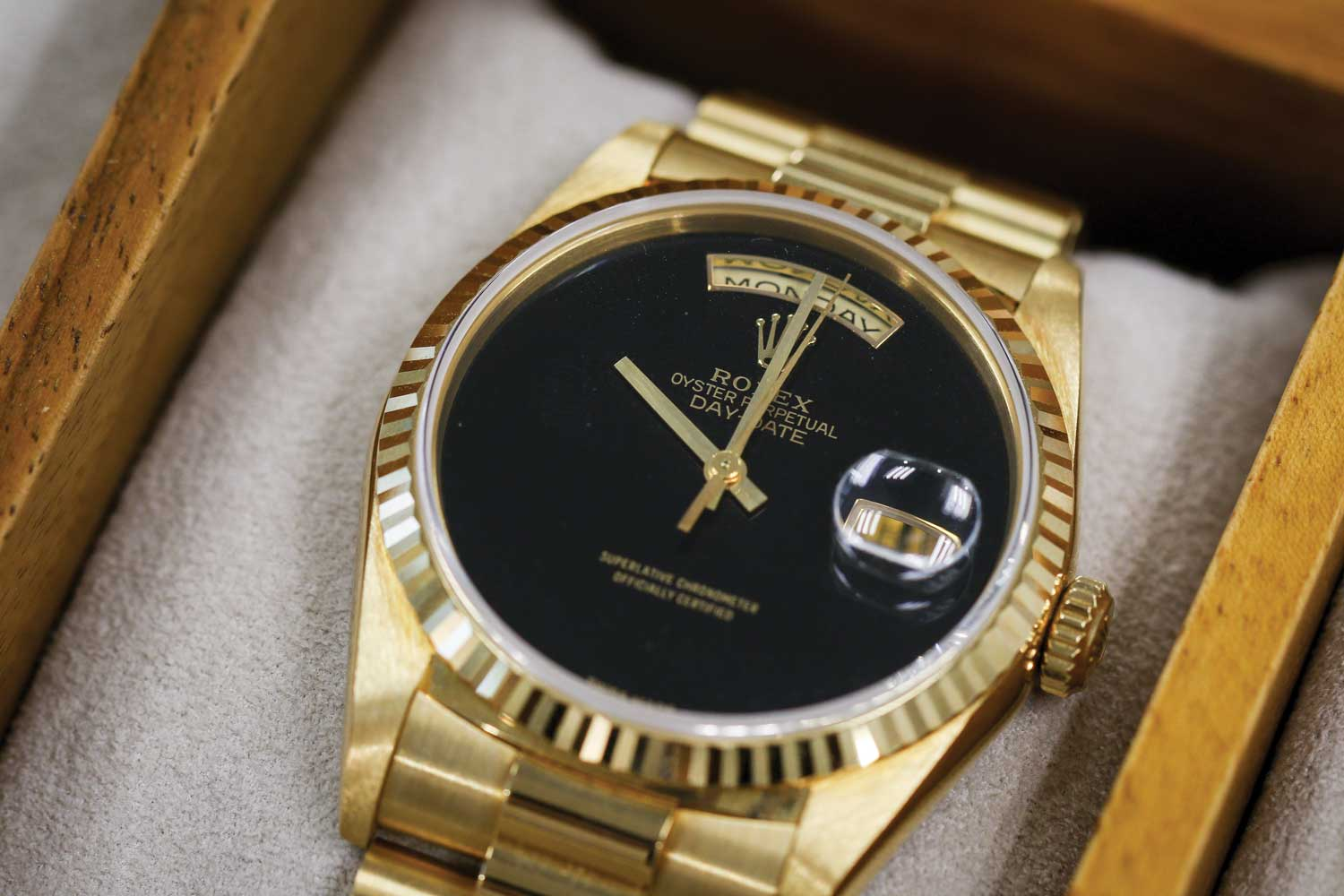 Rolex Day-Date ref. 18038 Onyx dial (Image © Revolution)