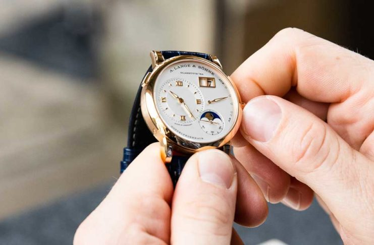 The Lange 1 Moon Phase in pink Gold