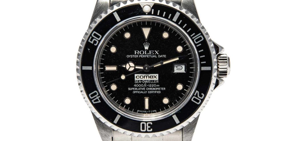 A full set Rolex Comex Sea-Dweller 16660 (gloss dial) that sold for $97k at Antiquorum's March 2020 Private Sale