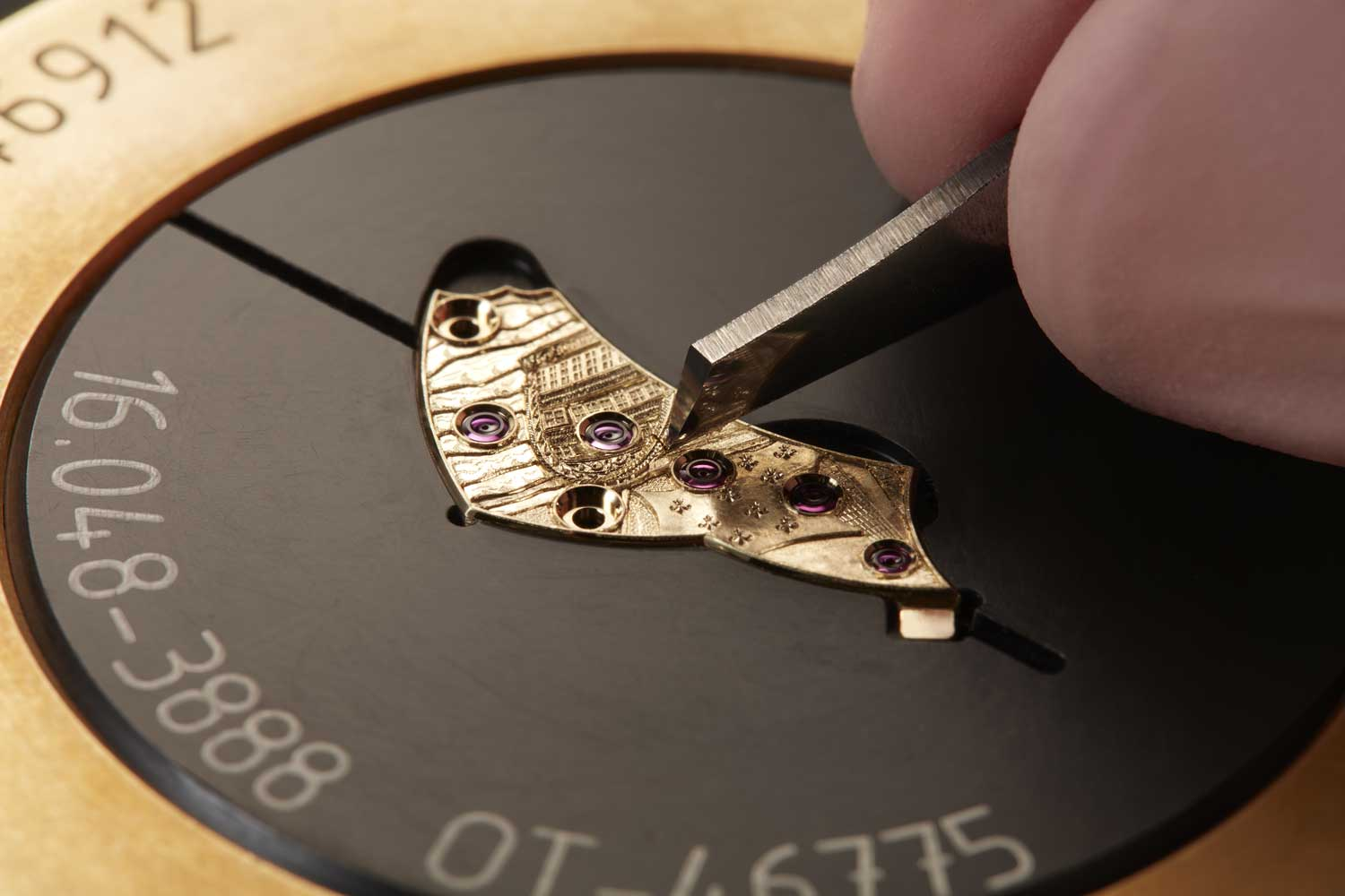 Detailed hand-engraving