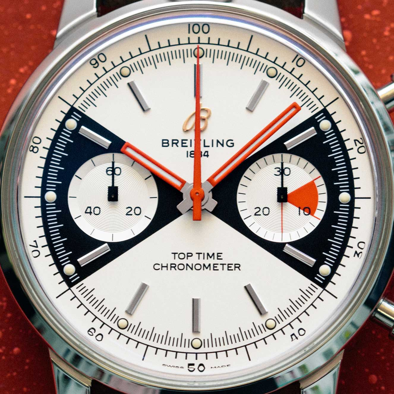 The 'Zorro' dial design on the 2020 Breitling Top Time Limited edition