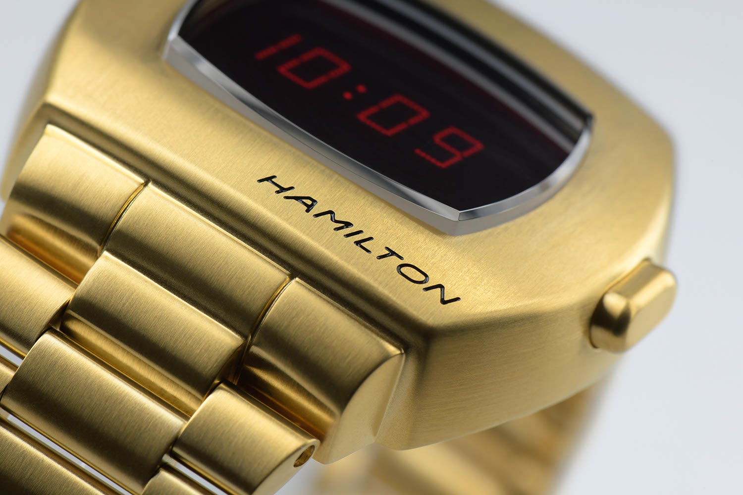 Hamilton Pulsar 2020 in Stainless Steel with Yellow Gold PVD Coating