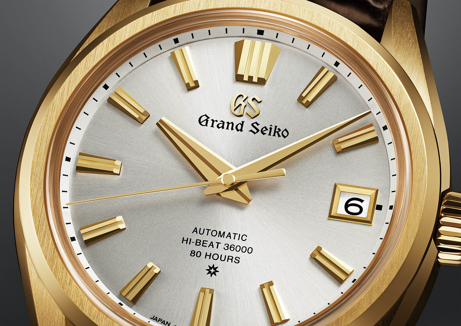 Close up on the dial of the Grand Seiko 60th Anniversary Limited Edition SLGH002
